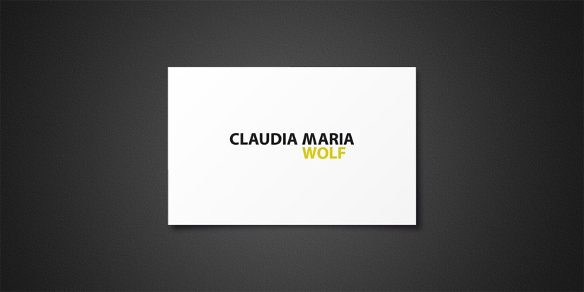 CORPORATE DESIGN DR. CLAUDIA MARIA WOLF
