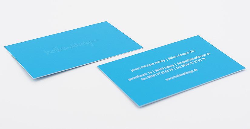 Visitenkarte Mit Relieflack 3d Lack Hollanddesign