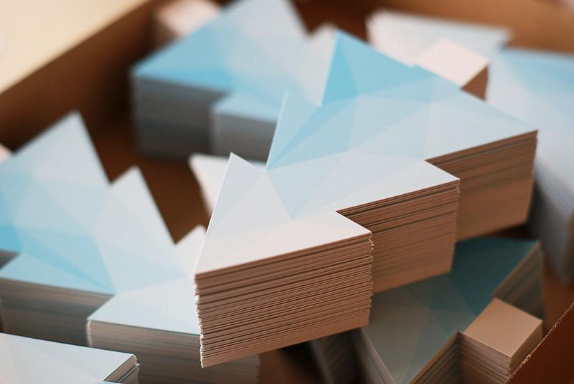 polygonale eisbaeume gestanzt