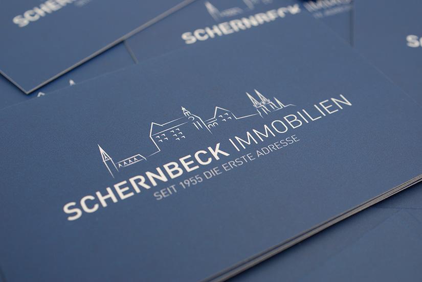 visitenkarten-design schernbeck immobilien