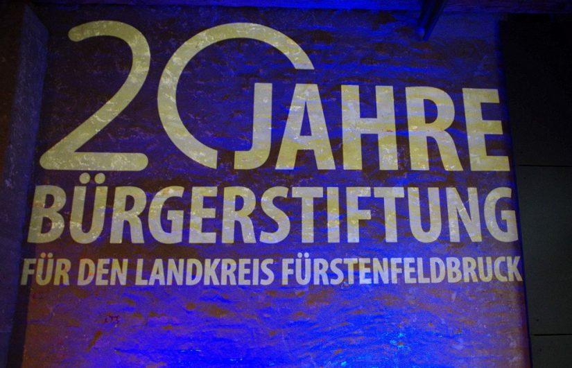 LOGO DESIGN 20 JAHRE BÜRGERSTIFTUNG