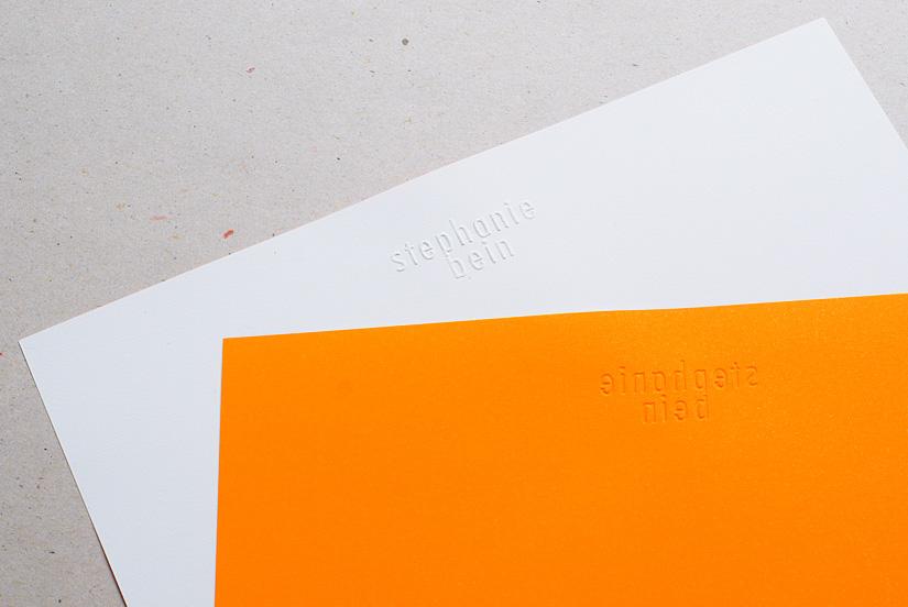 Neon Visitenkarten Hollanddesign
