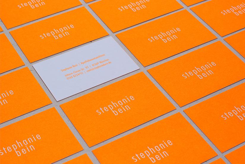 visitenkarten neon-orange (pantone 804)
