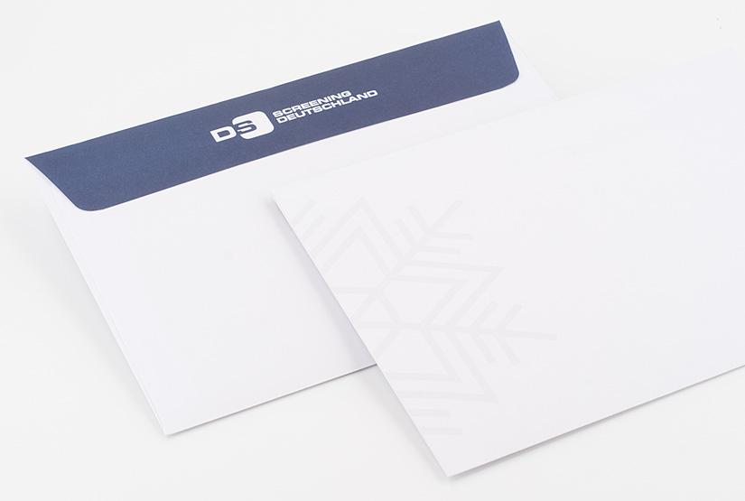 Kuverts schneekristall