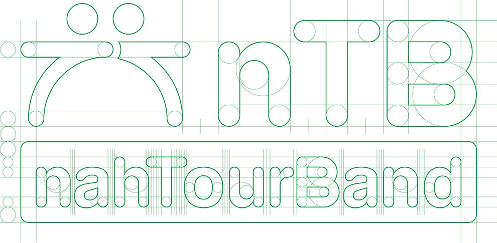logo design ntb nahtourband reinzeichnung spationierung